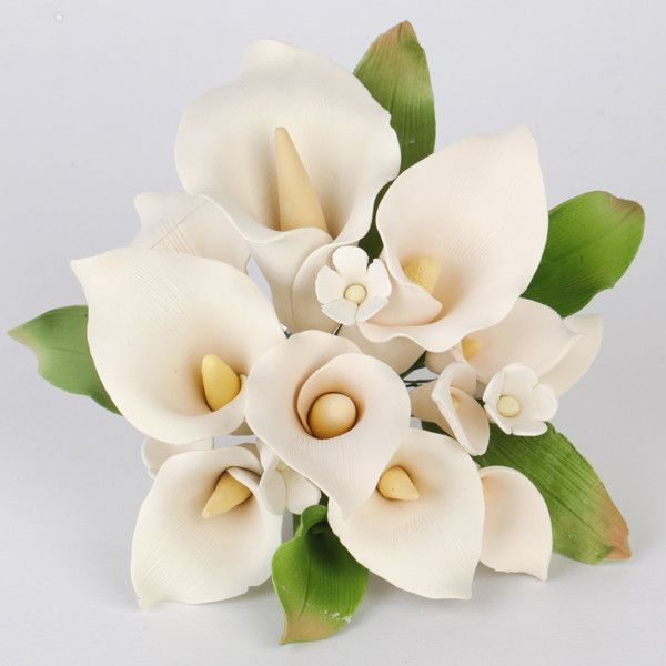 Medium Calla Lily Cake Topper - Ivory