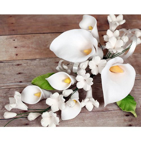 Small Calla Lily Sprays - White