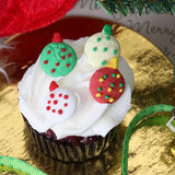 Edible Fondant Wreath & Christmas Tree CupCake Toppers perfect for christmas cakes & cupcakes.