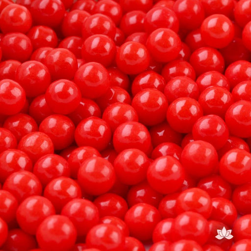 Red Candy Pearls cake decorations perfect for cake decorating cakes and cupcakes. Wholesale cake supply. Caljava
