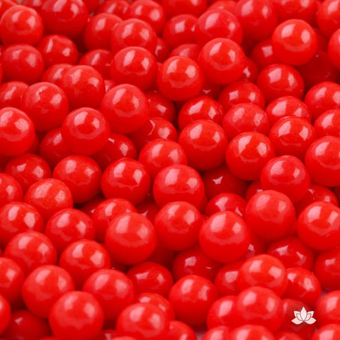 Edible Candy Pearls - Red 7mm