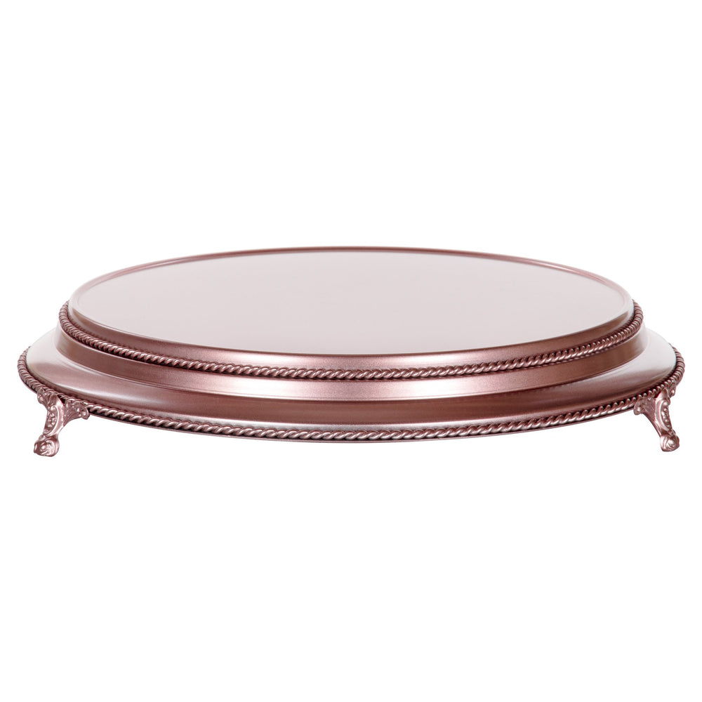 Amalfi Decor 16-inch round plateau metal wedding cake stand, rose gold finish