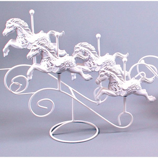 Ivory Gold 4 Horses on Stand