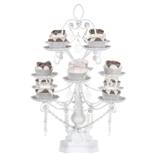 Madeleine White 12 Piece Dessert Cupcake Stand by Amalfi Decor