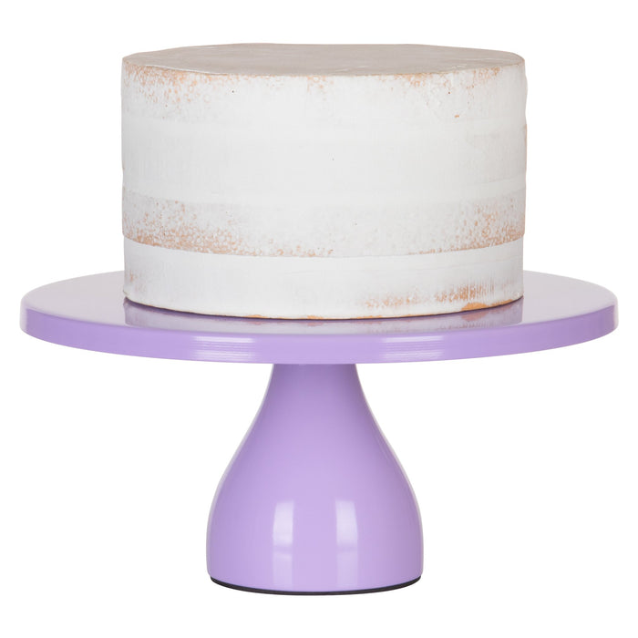 Jocelyn 12 Inch Lavender Purple Round Metal Cake Stand by Amalfi Decor