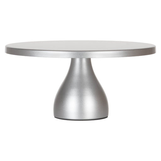 Jocelyn 12 Inch Silver Round Metal Cake Stand by Amalfi Decor