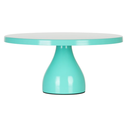 Jocelyn 12 Inch Teal Round Metal Cake Stand by Amalfi Decor