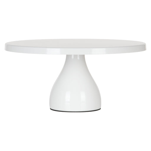 Jocelyn 12 Inch White Round Metal Cake Stand by Amalfi Decor