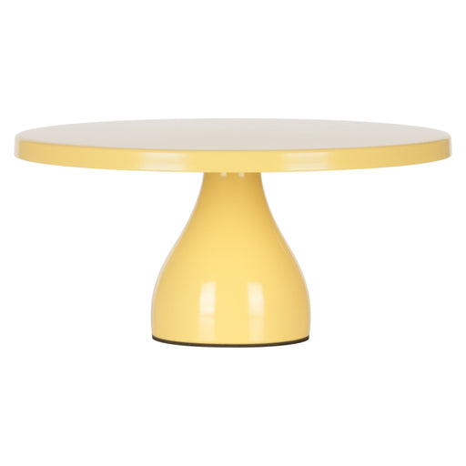 12 Inch Round Modern Metal Wedding Cake Stand (Yellow)