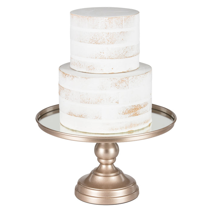 12 Inch Mirror-Top Cake Stand (Champagne) by Amalfi Decor