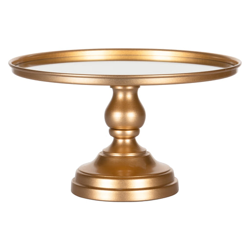12 Inch Mirror-Top Cake Stand (Gold) by Amalfi Decor