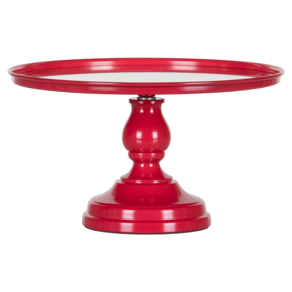 Amalfi Decor Red 12 Inch Mirror-Top Cake Stand