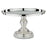 12 Inch Shiny Metallic Silver Plated Mirror-Top Cake Stand | Amalfi Decor