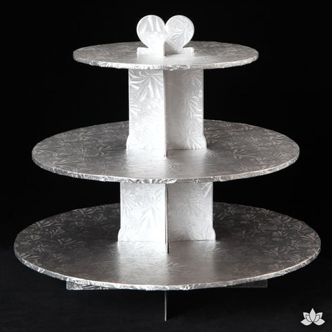 Cupcake Stand - Silver Foil