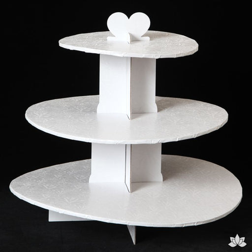 Cupcake Stand - White Foil
