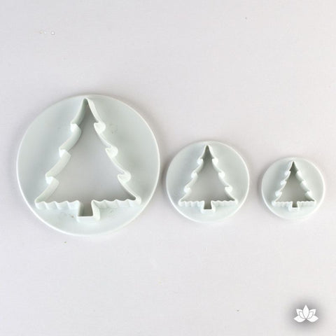 Christmas Tree Gumpaste Cutter PME gumpaste decorating tool perfect for Christmas Cake Decorations.