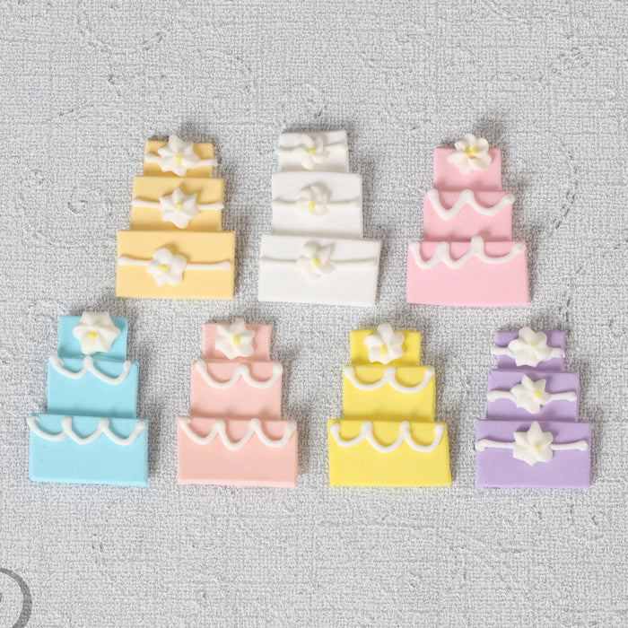 Wedding Cake Edible Cupcake Toppers great for decorating your own wedding cupcakes and cakes. Ready to use edible cake decoration.