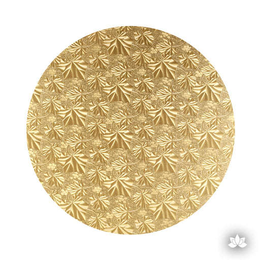 Cake Drum Gold Foil, great for displaying your decorated cake while providing a sturdy base for transporting your cake.