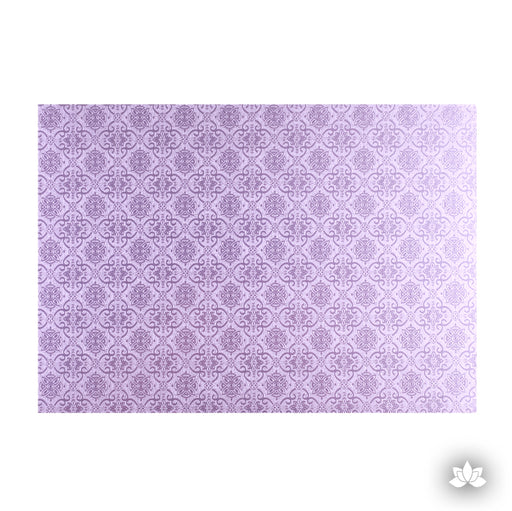 Cake Drum Foil Lilac, great for displaying your decorated cake while providing a sturdy base for transporting your cake.