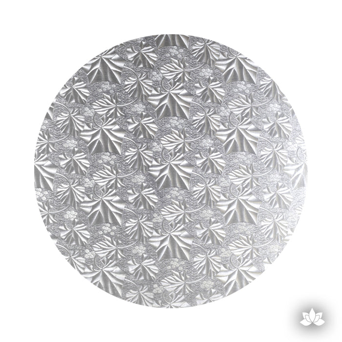 Silver Foil Cake Drum for cake decorating your own cakes. Cake Boards