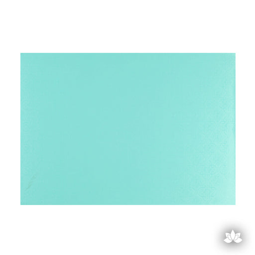 Cake Drum Foil Teal, great for displaying your decorated cake while providing a sturdy base for transporting your cake.