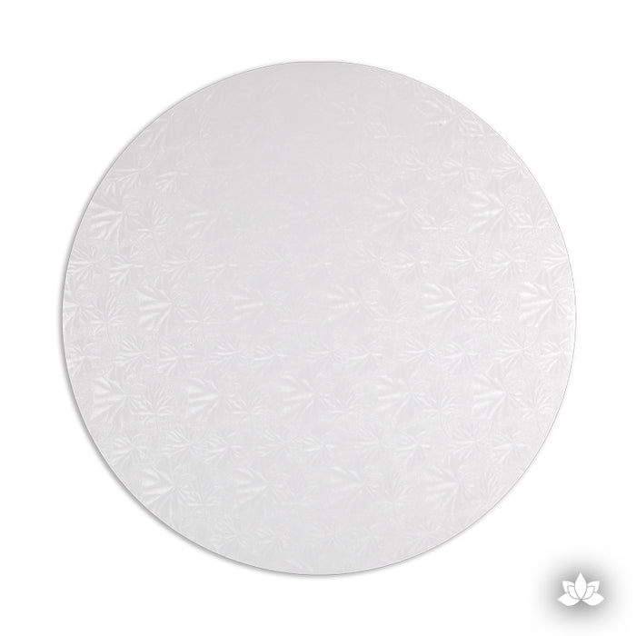 Cake Drum White Foil, great for displaying your decorated cake while providing a sturdy base for transporting your cake.