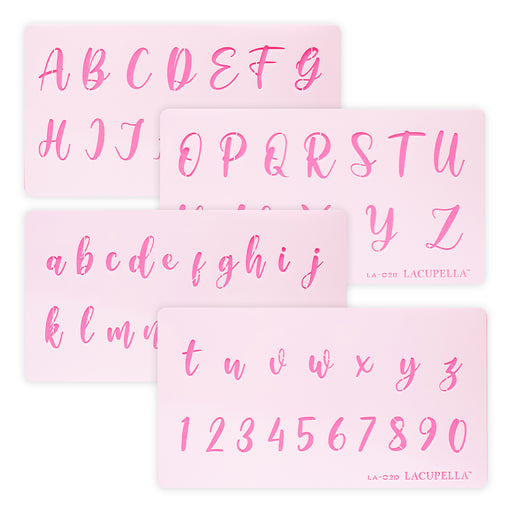 Acrylic Calligraphy Stencils Letters and Numbers for cake decorating your cakes, cupcakes and cookies. Lacupella