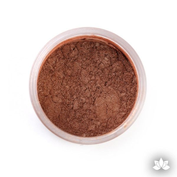 Caramel Luster Dust colors for cake decorating fondant cakes, gumpaste sugarflowers, cake toppers, & other cake decorations.  Wholesale cake supply.  Bakery Supply.  Brown Lustre Dust Color.