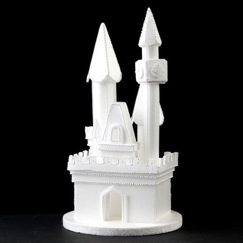 Castle Cake Topper perfect for Princess Cakes & fondant cakes. Styrofoam lightweight cake decoration.  Frozen Cake Castle.  Princess cake.