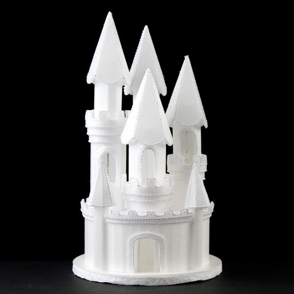 Castle Cake Topper perfect for cake decorating princess cakes & fondant cakes. Lightweight, white, made of Styrofoam. Princess Cake. Castle Cake. Frozen Cake. Wholesale Cake Decoration castle 8