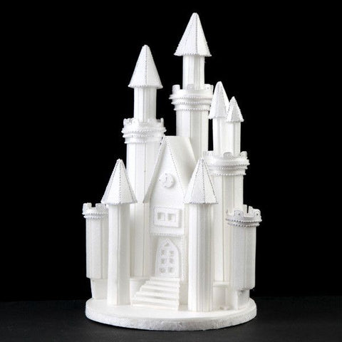 castle cake topper perfect for cake decorating princess cakes fondant cakes lightweight white