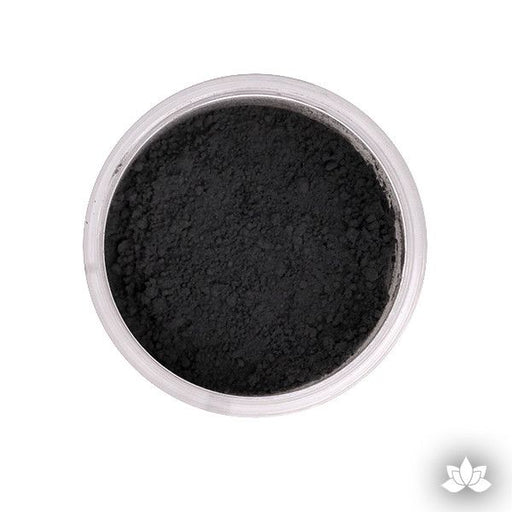 Charcoal Black Petal Dust color food coloring perfect for cake decorating & coloring gumpaste sugar flowers. Caljava