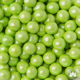 Green Chocolate Candy Pearls cake decorations perfect for cake decorating cakes and cupcakes. Wholesale cake supply. Caljava