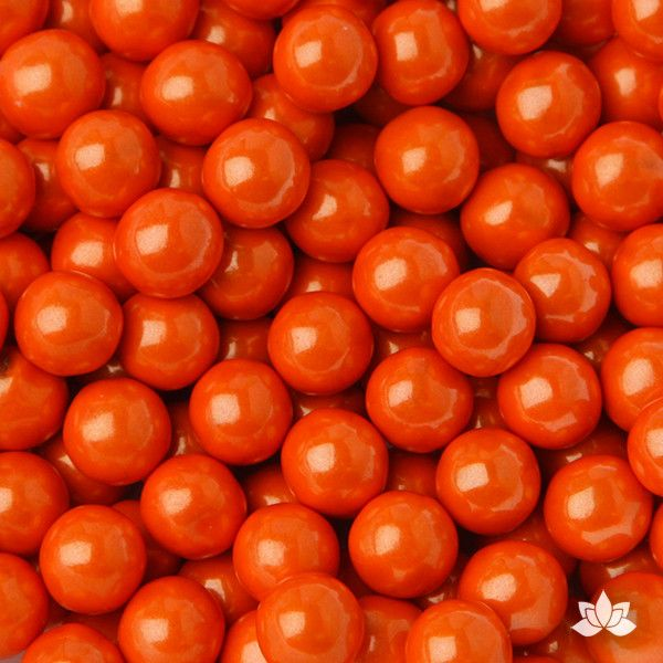Orange Chocolate Candy Pearls cake decorations perfect for cake decorating cakes and cupcakes. Wholesale cake supply. Caljava
