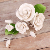 Small Tea Rose Sprays - White