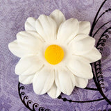 Medium White Daisies Gumpaste Sugarflower cake topper and cupcake topper perfect for cake decorating.  Wholesale Cake Supply. Caljava