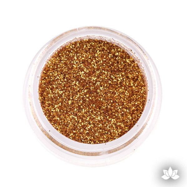 American Gold Disco Dust Pixie Dust. Disco Dust is a Non-toxic fine glitter for cake decorating that will add a touch of color to your fondant cakes & cupcakes.  Caljava Wholesale cake supply. FondX
