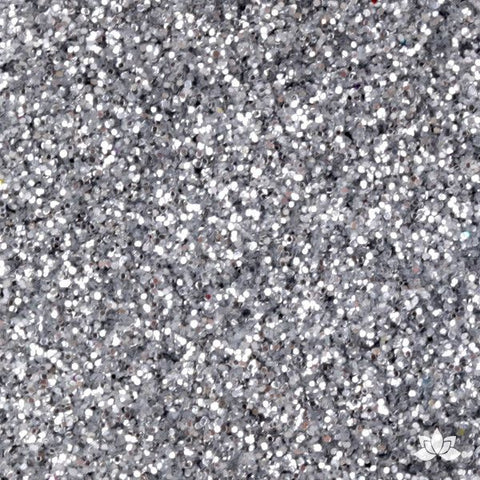 American Silver Disco Dust Pixie Dust. Disco Dust is a Non-toxic fine glitter for cake decorating that will add a touch of color to your fondant cakes & cupcakes.  Caljava Wholesale cake supply. FondX