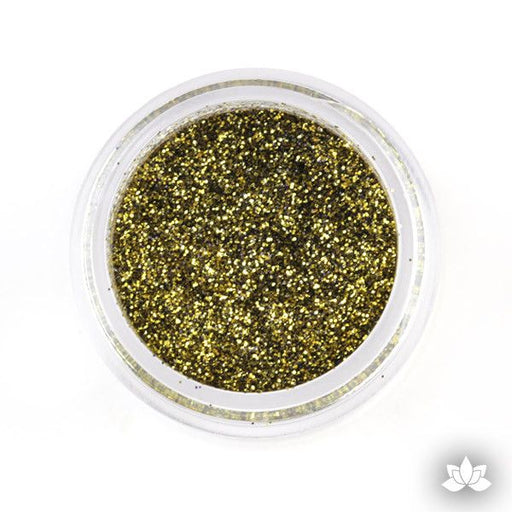 Antique Gold Disco Dust Pixie Dust. Disco Dust is a Non-toxic fine glitter for cake decorating that will add a touch of color to your fondant cakes & cupcakes.