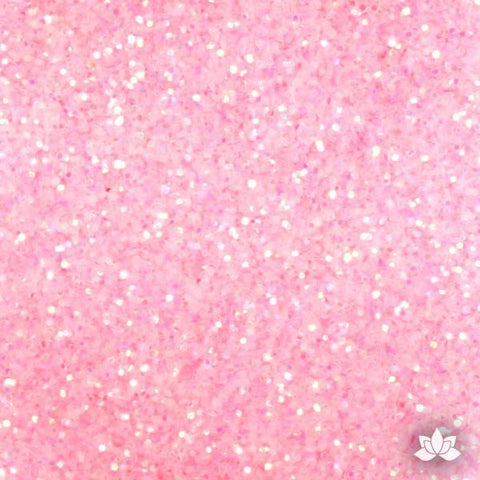 Baby Pink Disco Dust Pixie Dust. Disco Dust is a Non-toxic fine glitter for cake decorating that will add a touch of color to your fondant cakes & cupcakes.  Caljava Wholesale cake supply. FondX