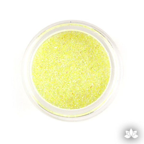 Baby Yellow Disco Dust Pixie Dust. Disco Dust is a Non-toxic fine glitter for cake decorating that will add a touch of color to your fondant cakes & cupcakes.