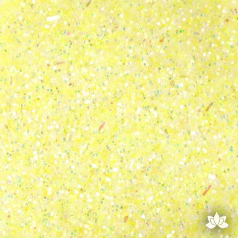 Baby Yellow Disco Dust Pixie Dust. Disco Dust is a Non-toxic fine glitter for cake decorating that will add a touch of color to your fondant cakes & cupcakes.  Caljava Wholesale cake supply. FondX