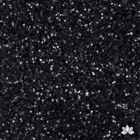 Black Disco Dust Pixie Dust. Disco Dust is a Non-toxic fine glitter for cake decorating that will add a touch of color to your fondant cakes & cupcakes.  Caljava Wholesale cake supply. FondX