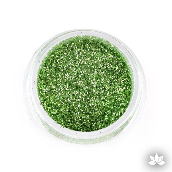 Lime Green Disco Dust Pixie Dust. Disco Dust is a Non-toxic fine glitter for cake decorating that will add a touch of color to your fondant cakes & cupcakes