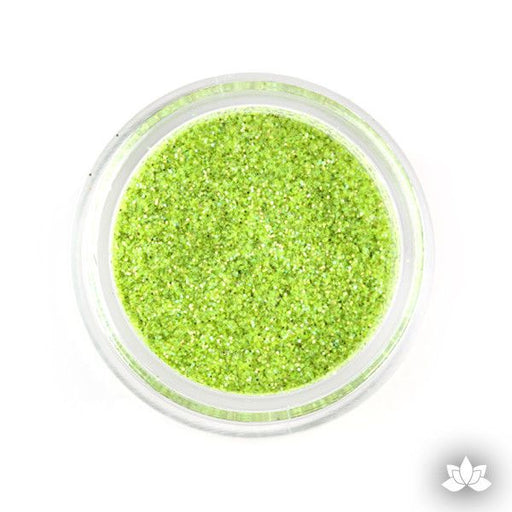 Celery Green Disco Dust Pixie Dust. Disco Dust is a Non-toxic fine glitter for cake decorating that will add a touch of color to your fondant cakes & cupcake