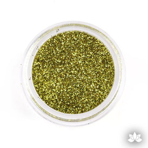 Chartreuse Disco Dust Pixie Dust. Disco Dust is a Non-toxic fine glitter for cake decorating that will add a touch of color to your fondant cakes & cupcakes.