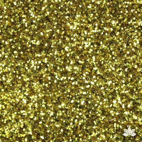 Chartreuse Disco Dust Pixie Dust. Disco Dust is a Non-toxic fine glitter for cake decorating that will add a touch of color to your fondant cakes & cupcakes.  Caljava Wholesale cake supply. FondX