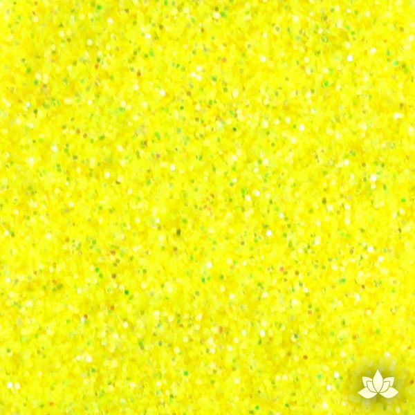 Citrus Yellow Disco Dust Pixie Dust. Disco Dust is a Non-toxic fine glitter for cake decorating that will add a touch of color to your fondant cakes & cupcakes.  Caljava Wholesale cake supply. FondX