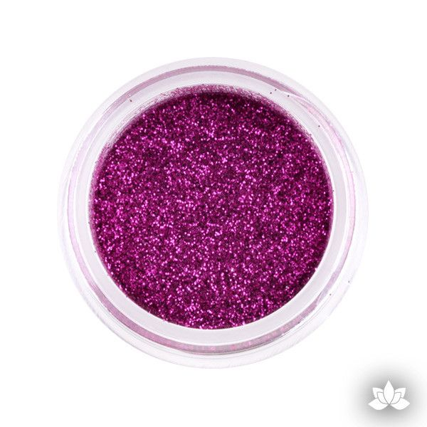 fuchsia Disco Dust Pixie Dust. Disco Dust is a Non-toxic fine glitter for cake decorating that will add a touch of color to your fondant cakes & cupcakes.