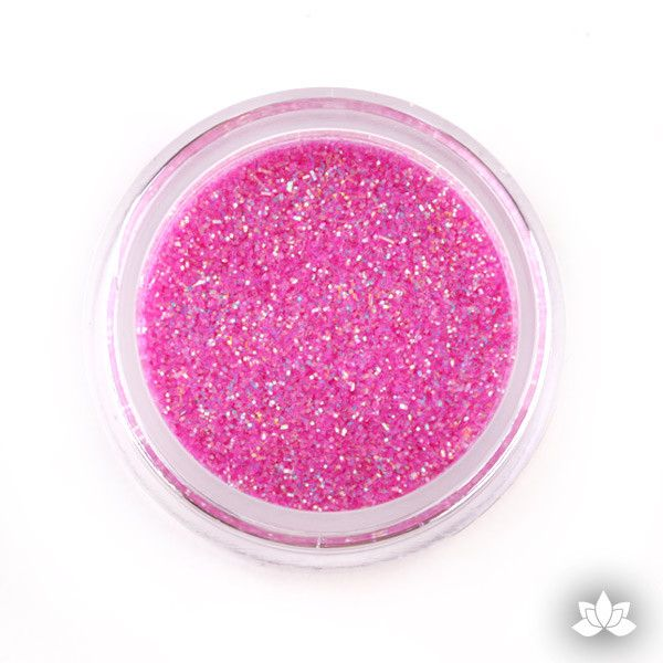 Fuchsia Rainbow Disco Dust Pixie Dust. Disco Dust is a Non-toxic fine glitter for cake decorating that will add a touch of color to your fondant cakes & cupcake